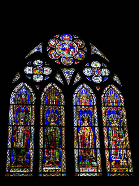 Wall Art - Photograph - Strasbourg Cathedral Stained Glass by Teresa Mucha