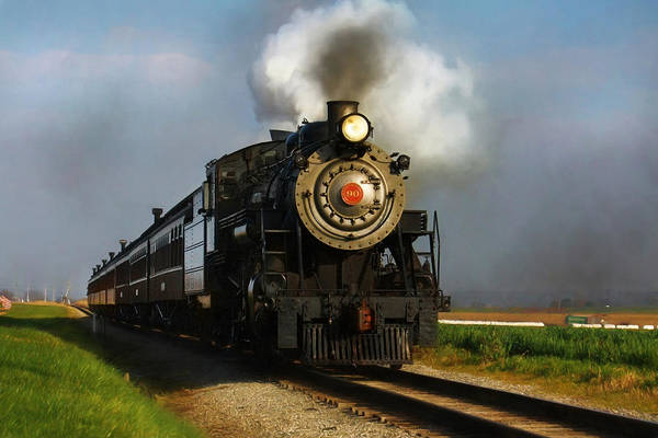 Lancaster County Photograph - Strasburg Locomotive by Lori Deiter