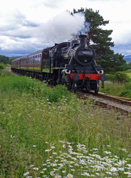 Photograph - Strathspey Railway - Ivatt 2-6-0 46512 by Phil Banks