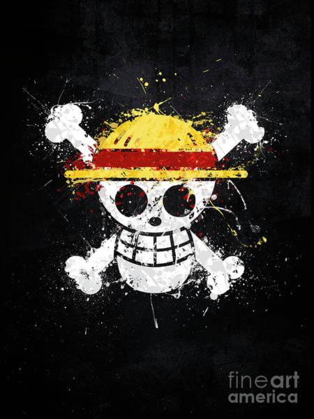 Wall Art - Digital Art - Straw Hat Pirates Jolly Roger by Jonathon Summers