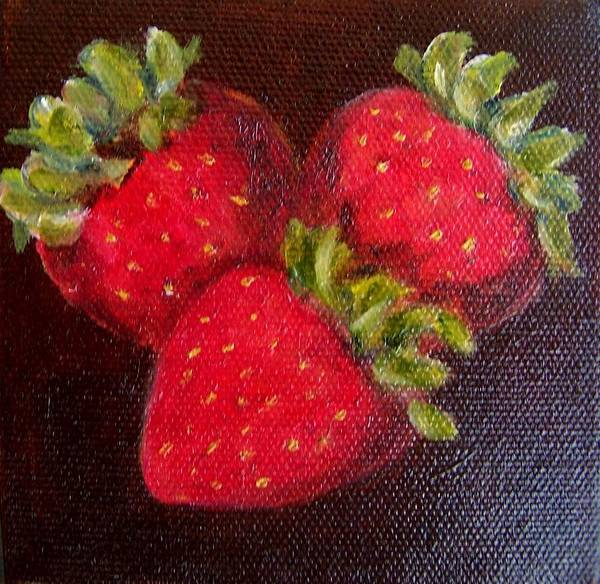 Painting - Strawberries 9 by Susan Dehlinger