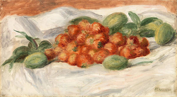 Almond Painting - Strawberries And Almonds by Pierre-Auguste Renoir