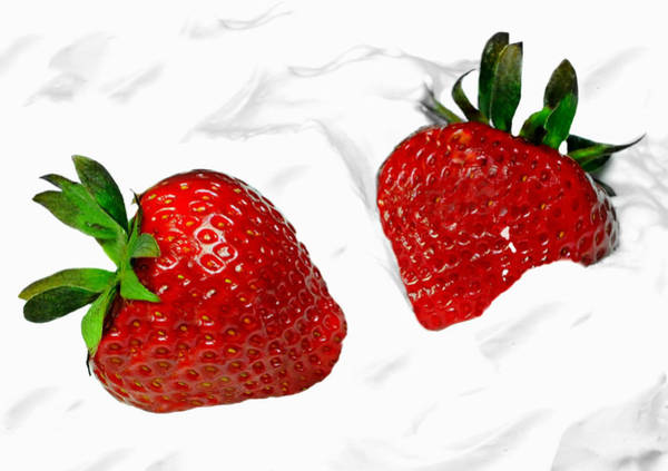 Wall Art - Photograph - Strawberries And Cream by Diana Angstadt