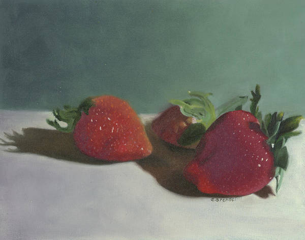 Wall Art - Painting - Strawberries by Cecilia Brendel