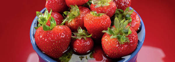 Wall Art - Photograph - Strawberries In A Bowl by Steve Gadomski