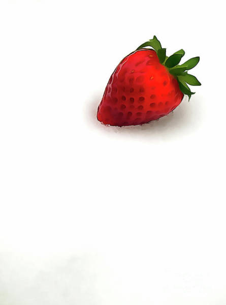 Painting - Strawberries In The Snow Paint by Odon Czintos