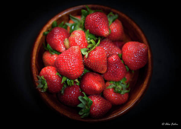 Photograph - Strawberries In The Wooden Plate by Alexander Fedin