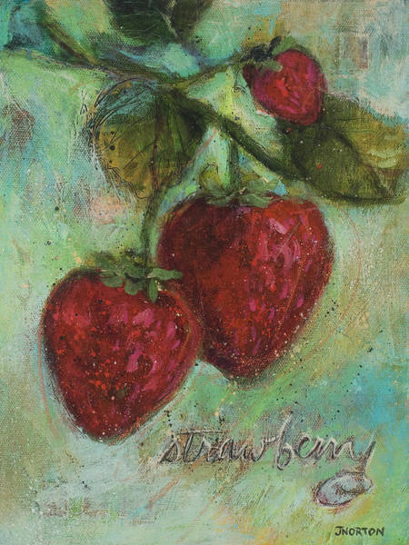 Strawberry Painting - Strawberries by Jen Norton