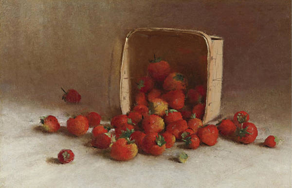Wall Art - Painting - Strawberries by Joseph Decker