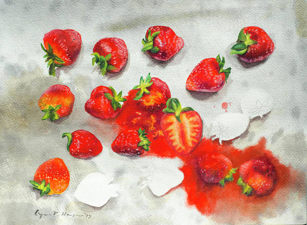 Painting - Strawberries On Paper Towel by Lynn Hansen