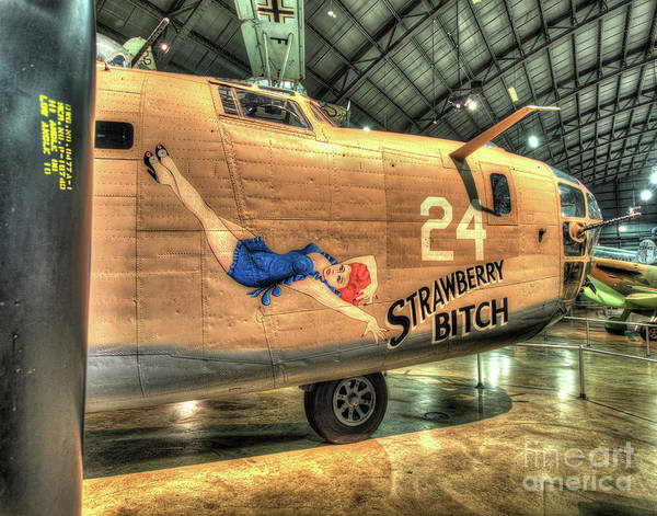 B24 Photograph - Strawberry Bitch, Consolidated B-24d Liberator by Greg Hager