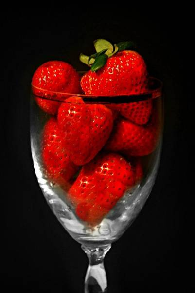 Wall Art - Photograph - Strawberry Cocktail by Diana Angstadt