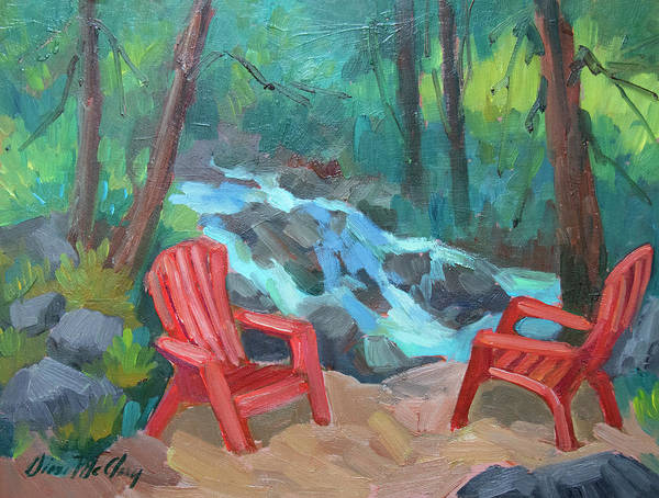 Adirondack Mountains Painting - Strawberry Creek Idyllwild by Diane McClary