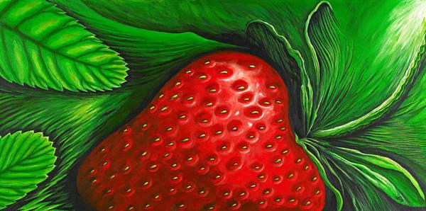 Strawberry Painting - Strawberry by David Junod