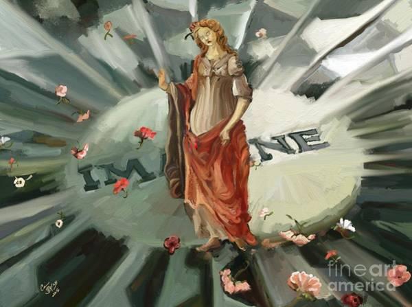 Primavera Painting - Strawberry Fields by Carrie Joy Byrnes