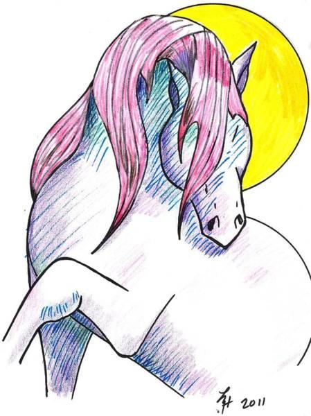 Strawberry Horse Art Print