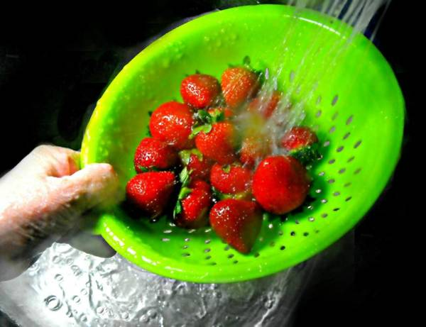 Wall Art - Photograph - Strawberry Wash by Diana Angstadt