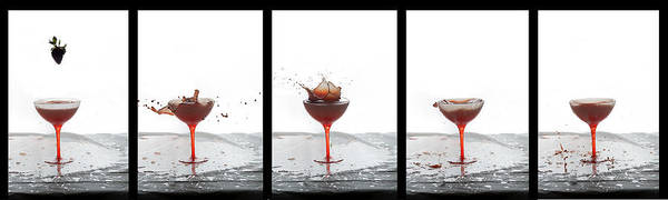 Photograph - Strawberry Wine Drop by Dan Friend