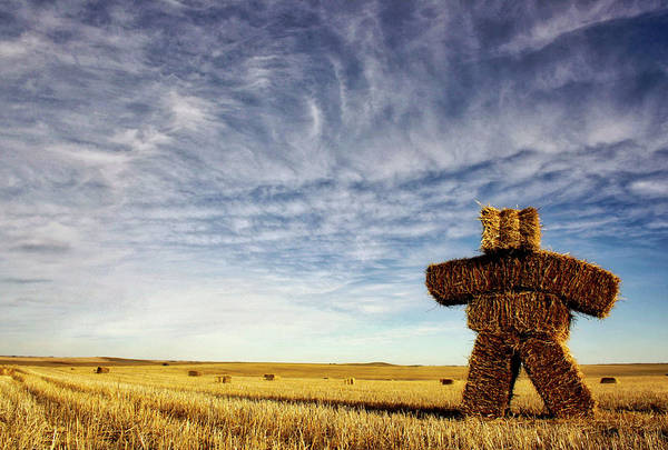 Strawman On The Prairies Art Print