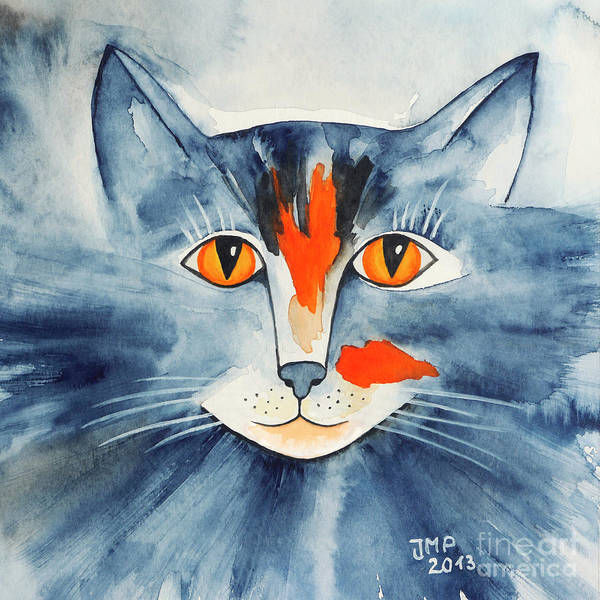 Wall Art - Painting - Stray Cat by Jutta Maria Pusl