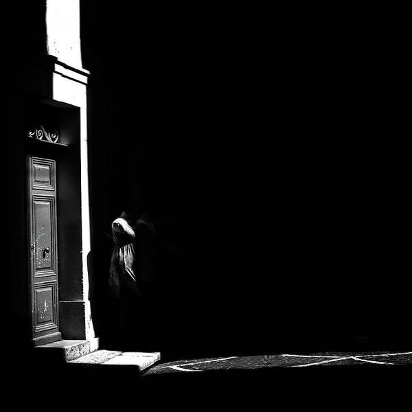 Photograph - Streak Of Light On Doorway by Alexandre Rotenberg