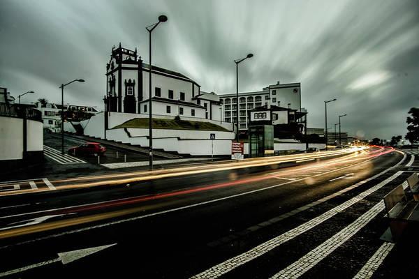 Photograph - streaky clouds in Ponta Delgado by Sven Brogren