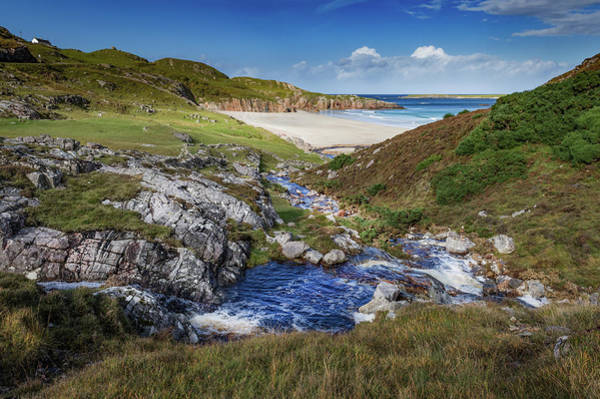 Photograph - Stream And Beach Durness by Gary Eason