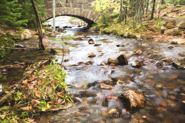 Wall Art - Digital Art - Stream In The Fall by Jon Glaser