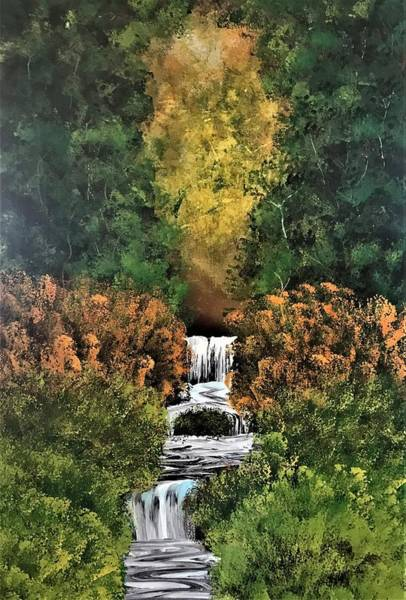 Wall Art - Painting - Stream Through The Woods by Willy Proctor