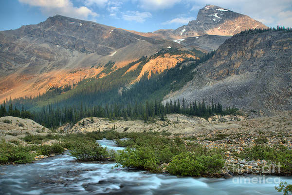 Photograph - Streaming Down From Bow Glacier by Adam Jewell