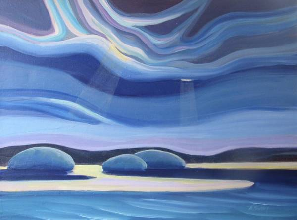 Painting - Streaming Light II by Barbel Smith
