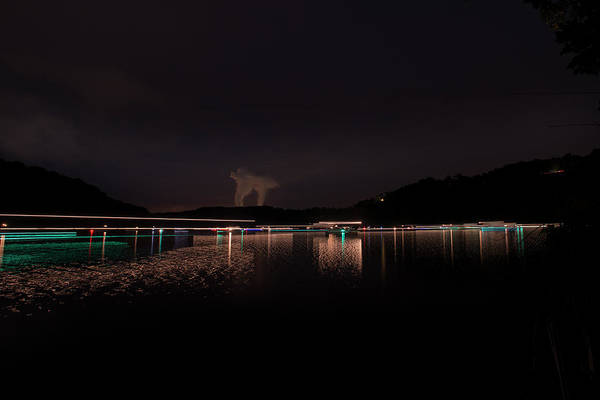 Photograph - Streaming Lights At The Lake by Dan Friend