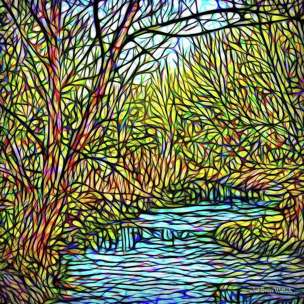 Digital Art - Streaming Perceptions by Joel Bruce Wallach