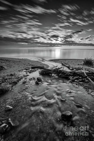 Wall Art - Photograph - Streaming Sunrise - Black And White by Andrew Slater