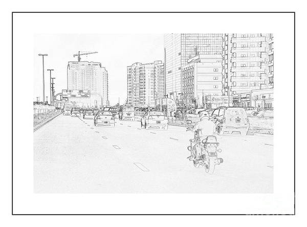 Baghdad Painting - Street Activities by Hussein Kefel