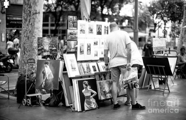 Photograph - Street Art On La Rambla by John Rizzuto