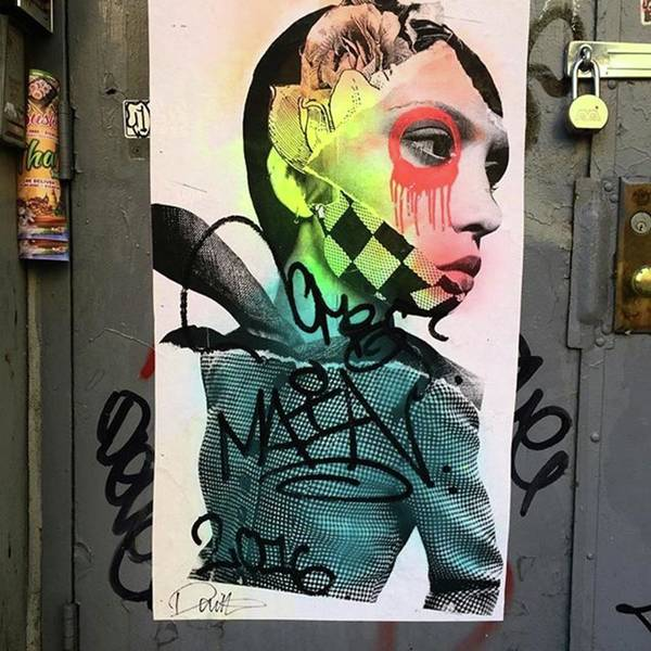 Street Art On West Broadway. #tribeca Art Print by Gina Callaghan
