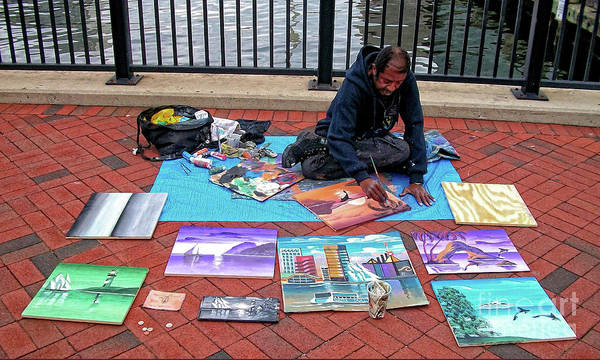Photograph - Street Artist, No. 1 by Walter Neal