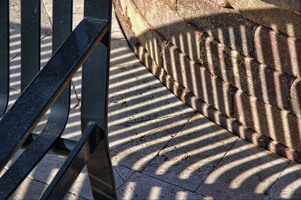 Wall Art - Photograph - Street Bench 2 Abstract by Richard Rizzo