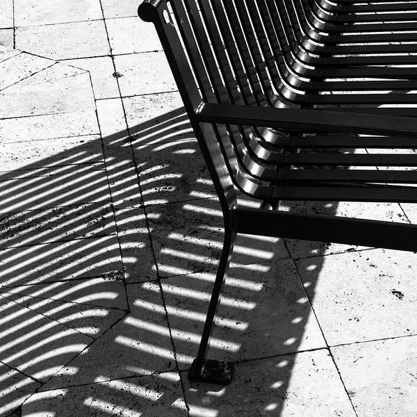 Wall Art - Photograph - Street Bench Abstract by Richard Rizzo