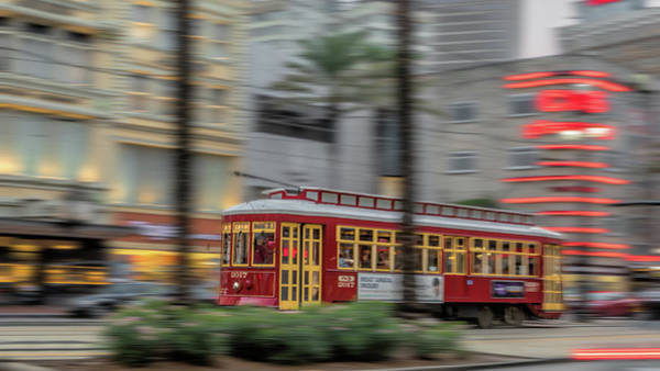 Photograph - Street Car Flying Down Canal by Susan Rissi Tregoning