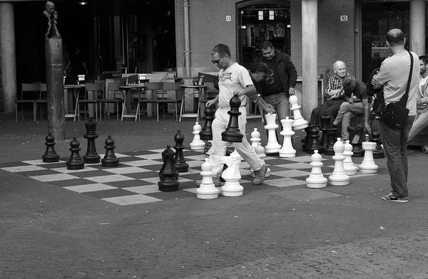 Photograph - Chess Players On An Amsterdam Street by Aidan Moran