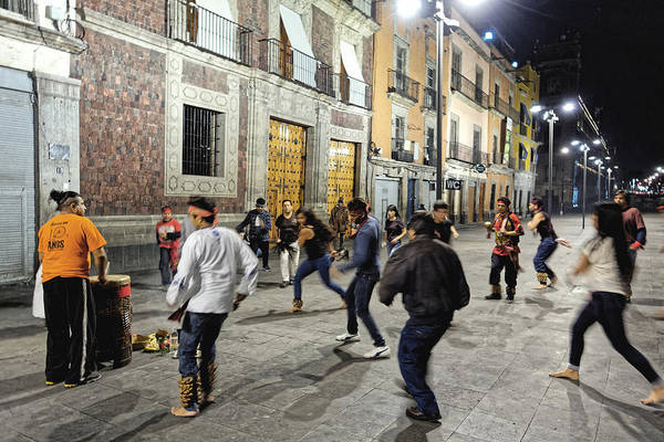 Photograph - Street Dancers, Mexico City 2016 by Chris Honeyman
