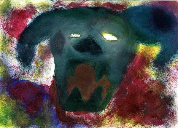 Primal Painting - Street Dog Dying In State Of Fury by Claudinei Bettiol