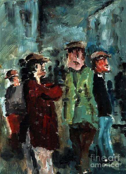 Painting - F 752 Street Gossip Everywhere. by Val Byrne