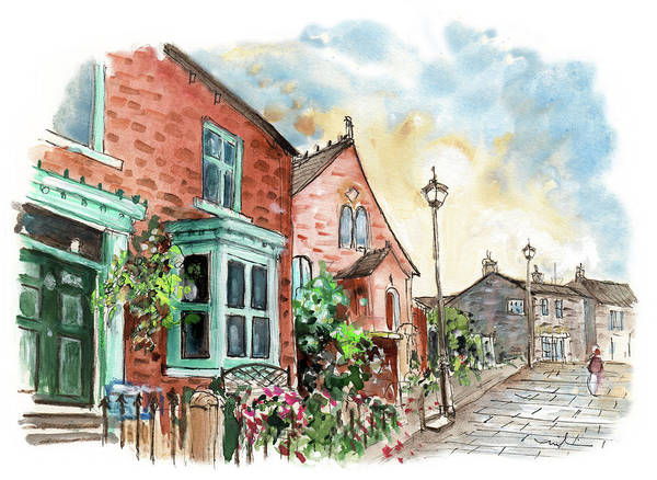 Wall Art - Painting - Street In Great Ayton by Miki De Goodaboom