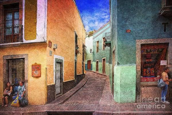 Photograph - Street In Guanajuato by John  Kolenberg