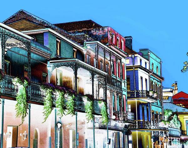 Street In New Orleans Art Print