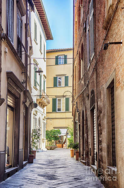 Photograph - street in old town Lucca, Italy by Ariadna De Raadt