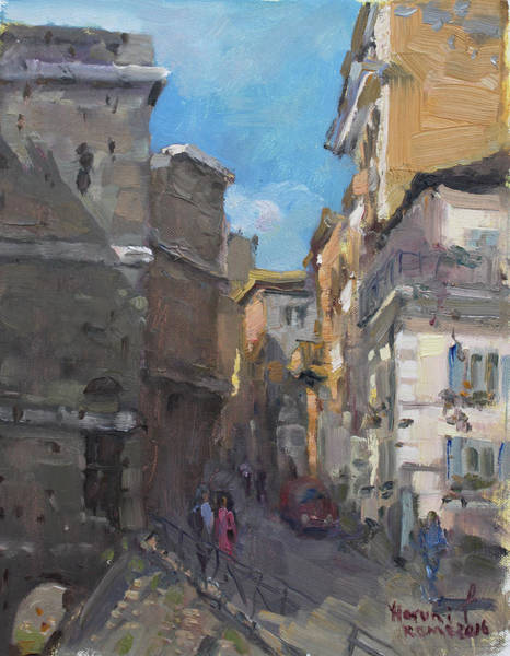 Rome Painting - Street In Rome by Ylli Haruni